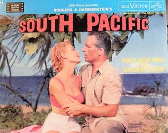 "South Pacific (1958 music Rodgers & Hammerstein, reissue) Mint 12"" Vinyl LP Original Soundtrack;  Mitzi Gaynor, Rosanno Brazzi, John Kerr"