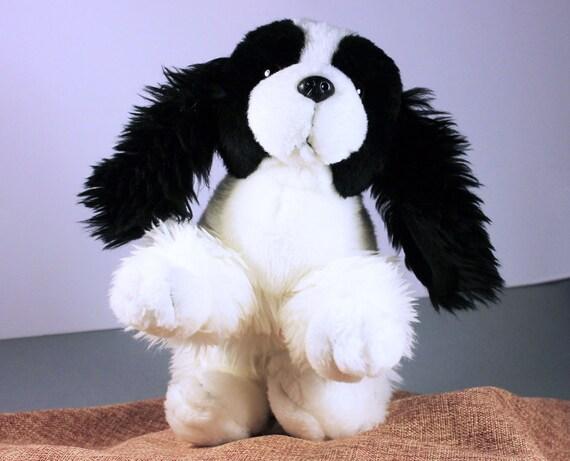 Plush Dog, Animal Alley, Cocker Spaniel, Black and White, Stuffed Animal, Small Plush Dog