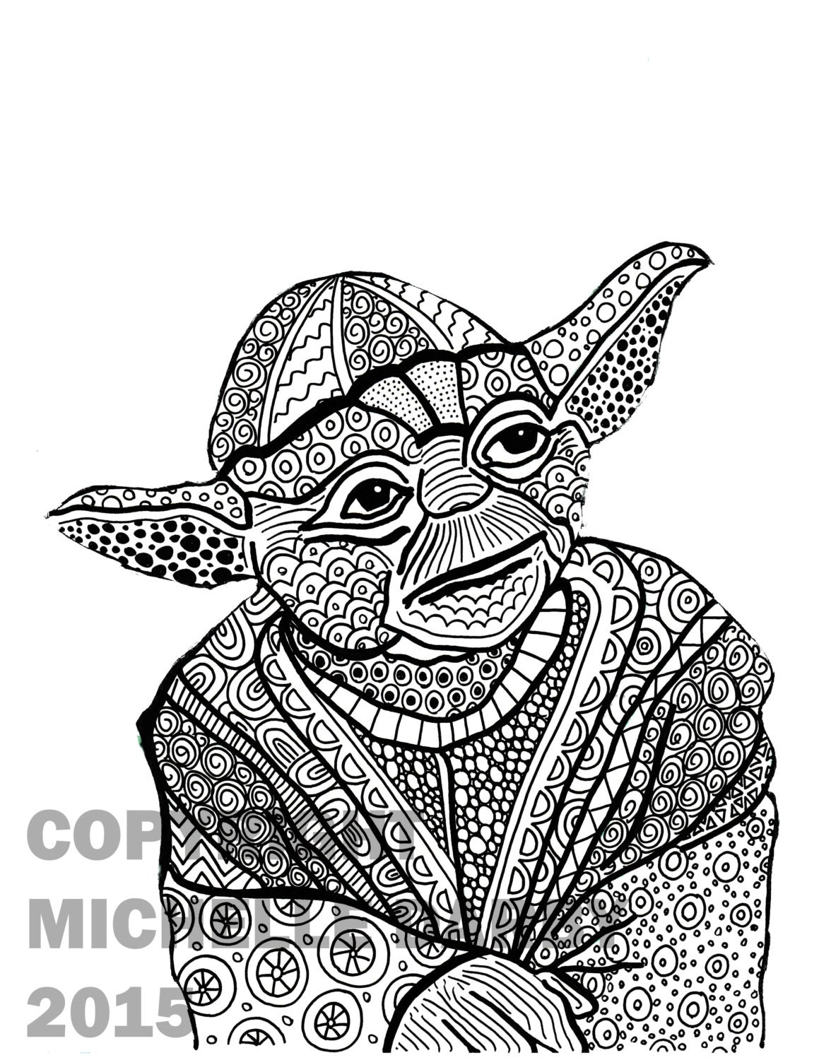 Yoda Clip Art Black And dexter\'s laboratory coloring pages looney ...