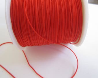 5 meters of 0.8 mm red nylon thread