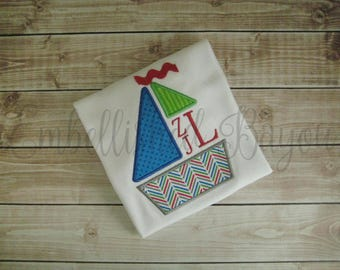 Applique Sailboat with MonogramT-shirt for Boys
