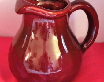 Vintage New Burgandy Haeger Pottery Pitcher