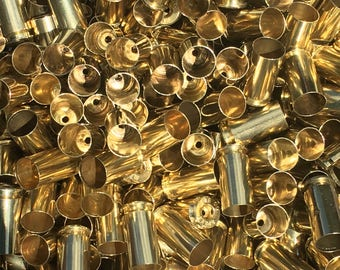 Bulk Processed 40 SW Once Fired Brass Casings. These are perfect for Reloading or Jewelry making! *These do not have primers in them*