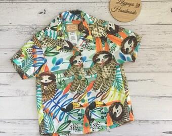 Sloth Collared Shirt