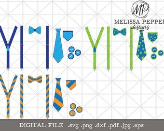 Mother's Day Suspenders Tie SVG, Spring Baby Suspenders design, Baby bow tie png eps, cute baby boy svg, blue green orange suspenders,svg