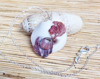 Purple Barnacle Beach Comber Necklace