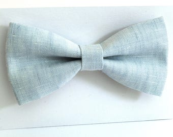 Linen bow tie, wedding necktie, linen necktie,  groomsmen necktie, bow tie for men