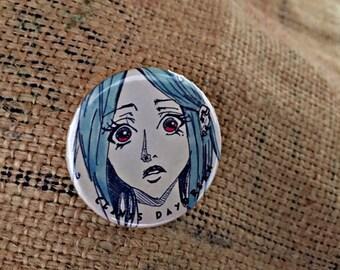 Pinback Button Pin, Badge, Button Badge, Beauty, Clints Daydream
