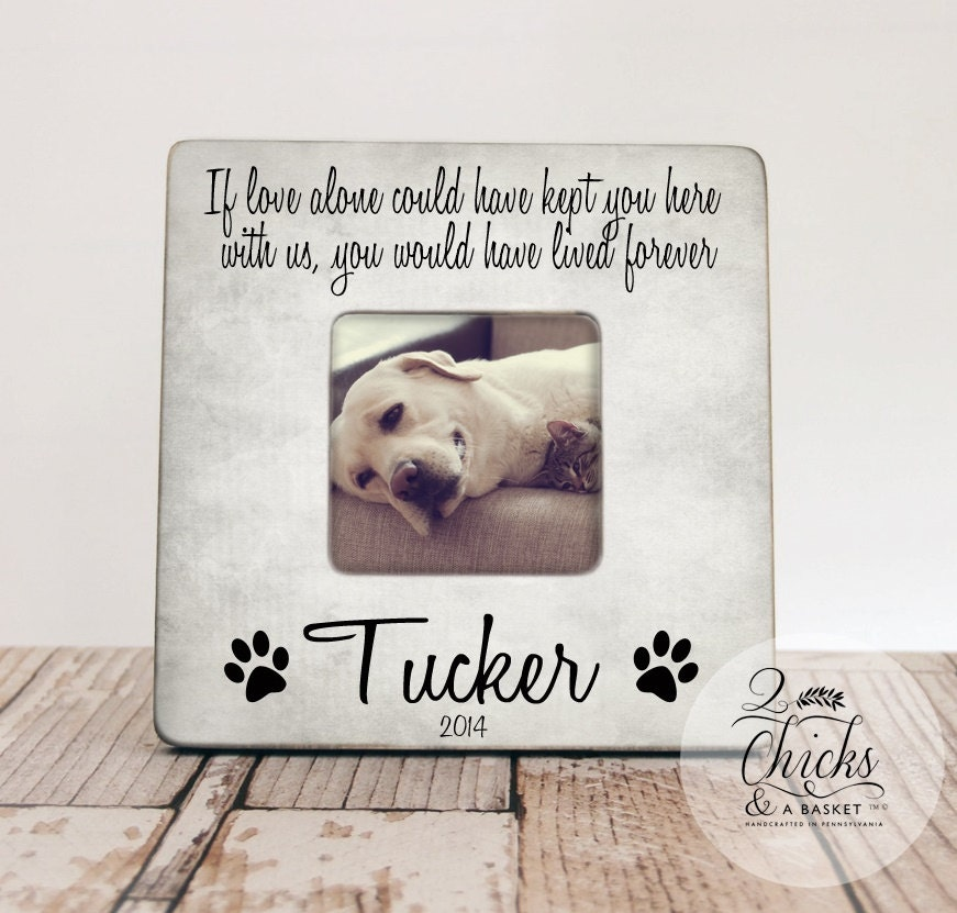 Pet Memory Gift, Pet Loss Keepsake, If Love Alone Could Have Kept ...