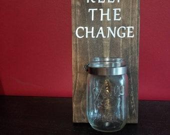 Keep the change jar, laundry sign