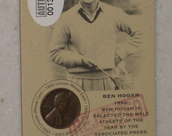 new just in ben hogan Authenticated Ink Coin Card