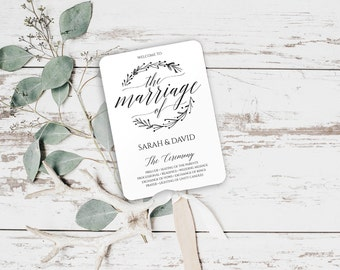 Wedding Fan Template Program, Wedding Fan Program, Wedding Program Fan Template, Wedding Program Templates Download, Printable, BD-6041