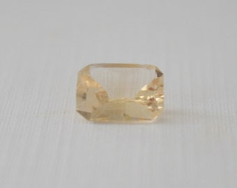 GIA Certified 2.52 Cts. Radiant Cut Light Yellow Sapphire
