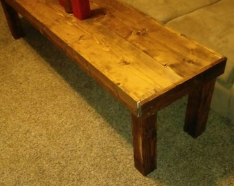 Pine Coffee Table with Cedar Stain