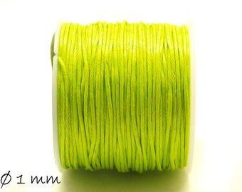 Designed, cotton string, green, light green, Ø 1 mm