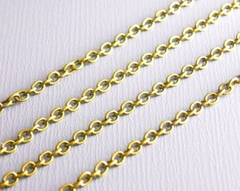 1 m chain Golden links 2 x 2 mm