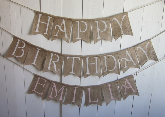 Large Happy Birthday Banner