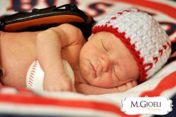 Newborn baseball beanie photo prop baseball hat newborn