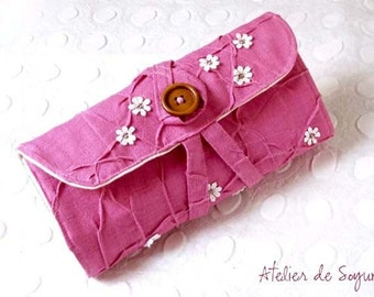 Crochet Hook Case Crochet Hooks Organizer Holder in Magenta Pink Puchsia gift for her gift for mom crafter