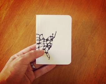 Highway Notebook, Road Trip Journal, Original Handmade Mini Diary and Jotter, Blank Paper Notebook