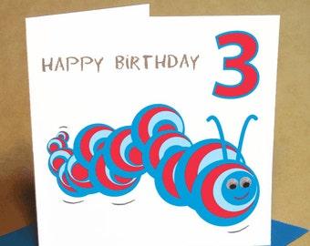 Age 3 Boy Birthday Card