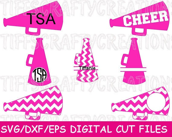 cheer svg files megaphone megaphone frame svg cheerleading