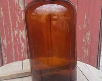 Vintage large brown apothecary bottle