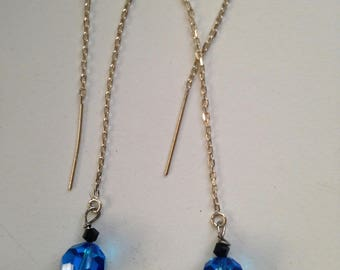 Teal Swarovski Crystal Earrings
