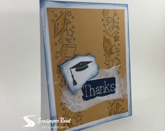 Graduation thank you card (choose custom colors)