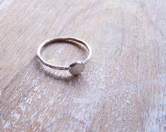 Brushed Silver Ingot Ring - Sterling Silver Ring - Recycled Silver Ring - OOAK Silver Ingot Ring