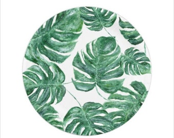 Palm Leaf Paper Plates green paper plates tropical leaf plates palm leaf plate palm leaf plates monstera leaf leaf paper plates  sc 1 st  Etsy & Tropical paper plate | Etsy