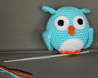 Handmade Amigurumi Owl crochet baby plushy collection babyshower mothers day birthday present boy girl