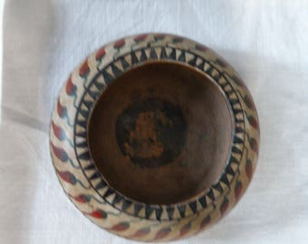 Vintage Clay Chile Pepper Bowl