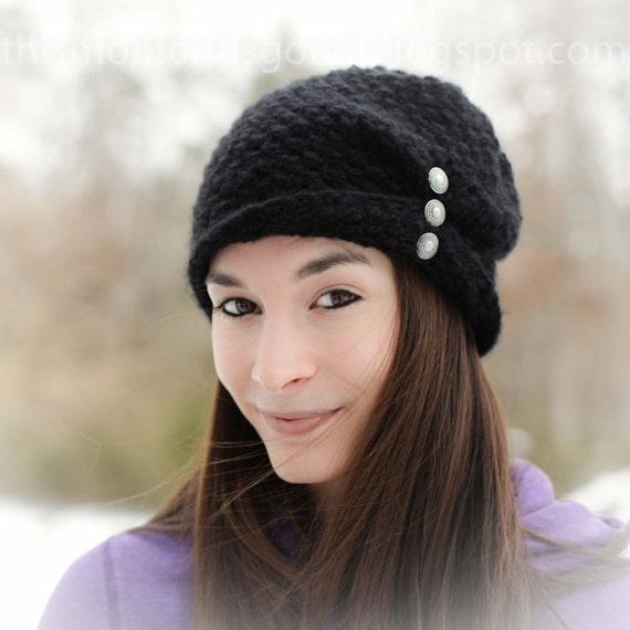 Loom Knit Ladies Folded Brim Hat Pattern Loom Knit Winter Hat