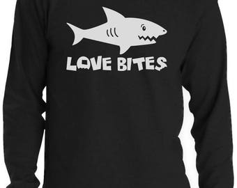 Love Bites Funny Valentine's Day Gift Long Sleeve T-Shirt