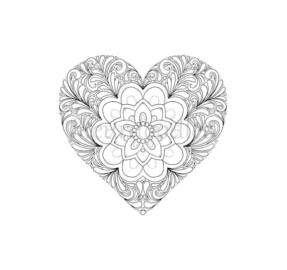 coloring page Heart printable download love colouring pages