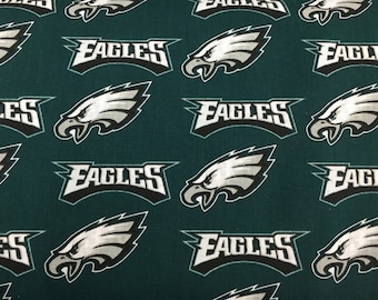 """PHILADELPHIA EAGLES nfl 60"""" Cotton Fabric By The Yard Fabric Traditions"""