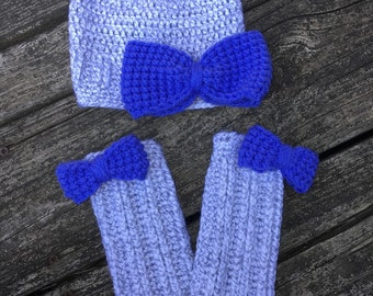 Hat and leg warmers photo prop