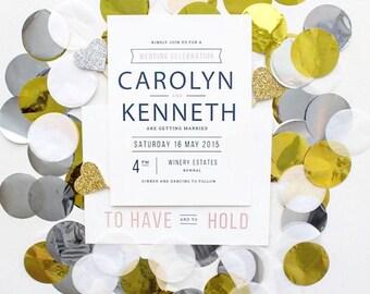 engagement/wedding invitation