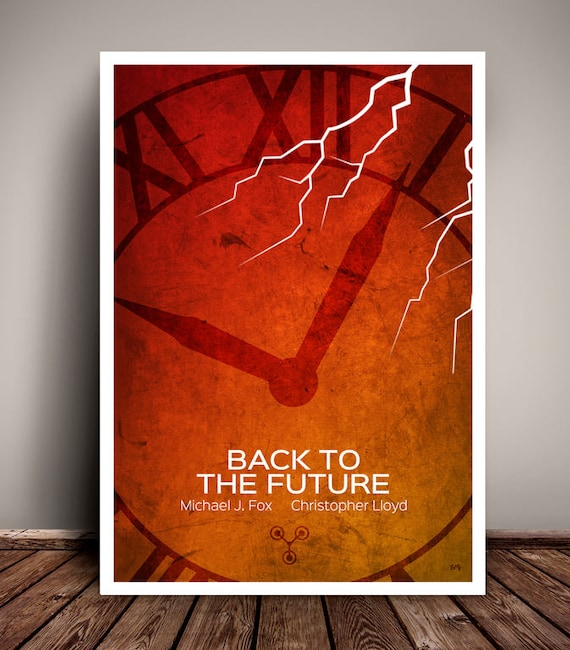 Back To The Future // Michael J Fox // Minimalist Movie Poster // Unique Art Print