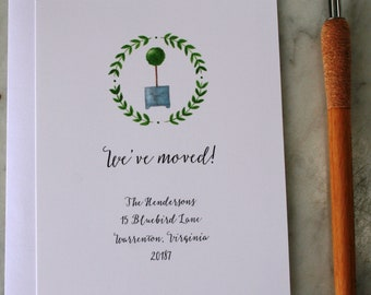 Moving announcement cards, New house announcement cards, New address cards, Moving announcement, New address notification cards