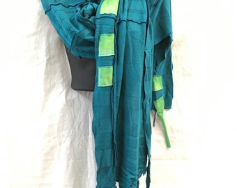 Travelers-Wing Wide Scarf...Recycled, Wrap,  WING,  ,OOAK