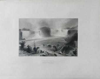 1883 Antique Print, Niagra