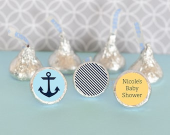 Hershey Kiss Labels-Baby Shower Favors-Stickers for Candy Kisses-Personalized Hershey Kiss Favor Labels (set of 108) Party Favor Ideas