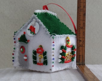 Felt House Ornament