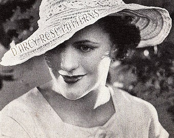 Instant Digital Pattern Women's Crochet 1930s Hat #4673 PDF
