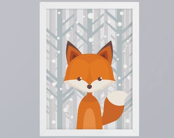 Fox - unframed art print