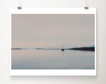 boat photograph Scotland photograph loch photograph sunset photograph boat print scottish decor landscape photograph travel print