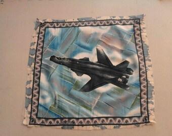 Jet Airplane Fabric Panel 250145