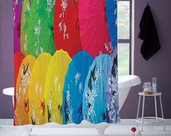 Chinese Umbrellas Shower Curtain